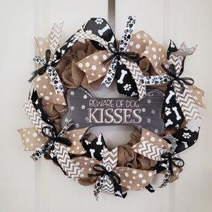 Handmade Dog Lover's Wreath,Door WreathWall Wreath